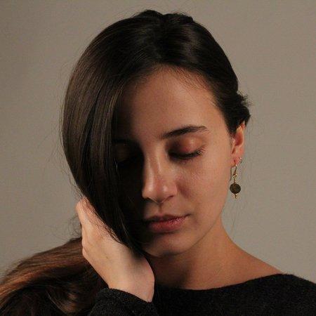Robindira Unsworth Labradorite Slice Earrings