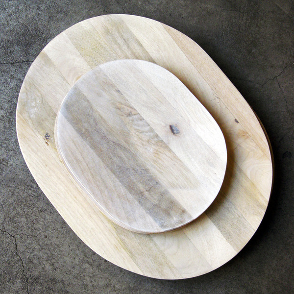 white mango wood platters