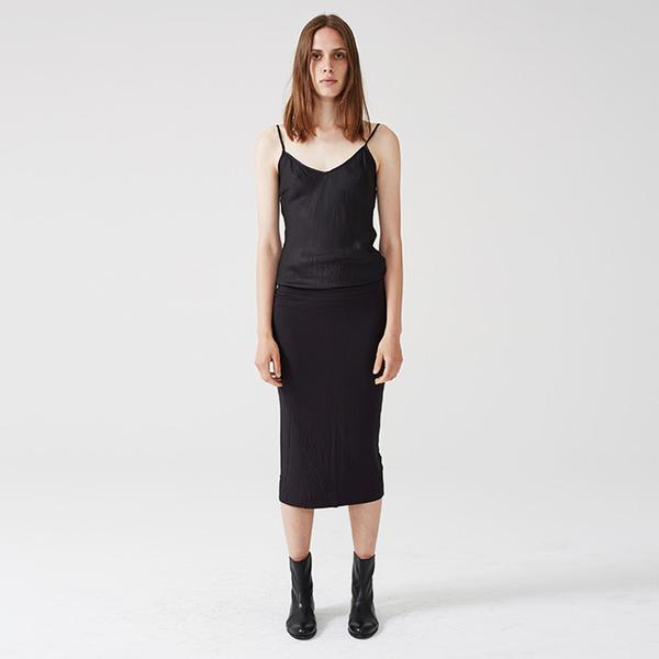Organic by John Patrick tube skirt - black