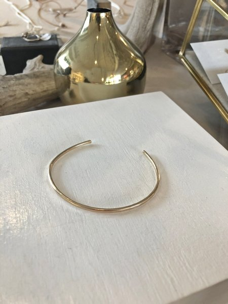 Leandra Hill Metalworks Hammered Cuff - Gold