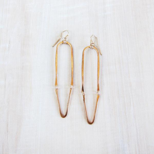 Christine Fail hinged hoop earrings