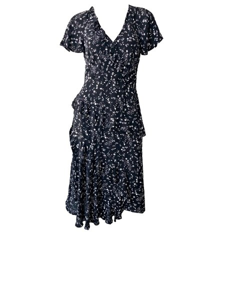 Joie Orita Printed Dress - Caviar