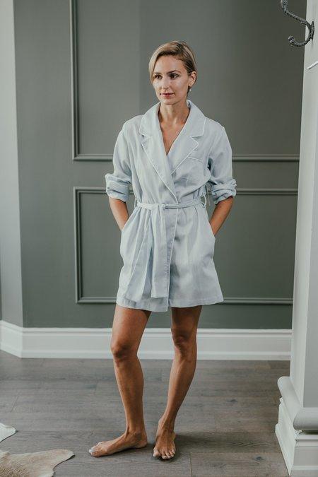 KIP. Sleepwear Robe - Soft Blue