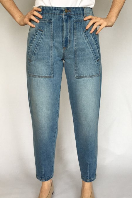 Built by Wendy Pegged Jeans - BLUE