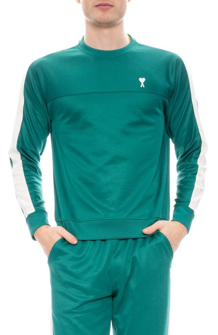 AMI Crew Neck Sweatshirt - Green