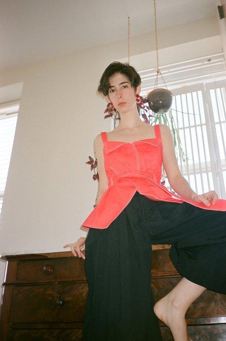 J. Kim Peplum Bustier - Cherry