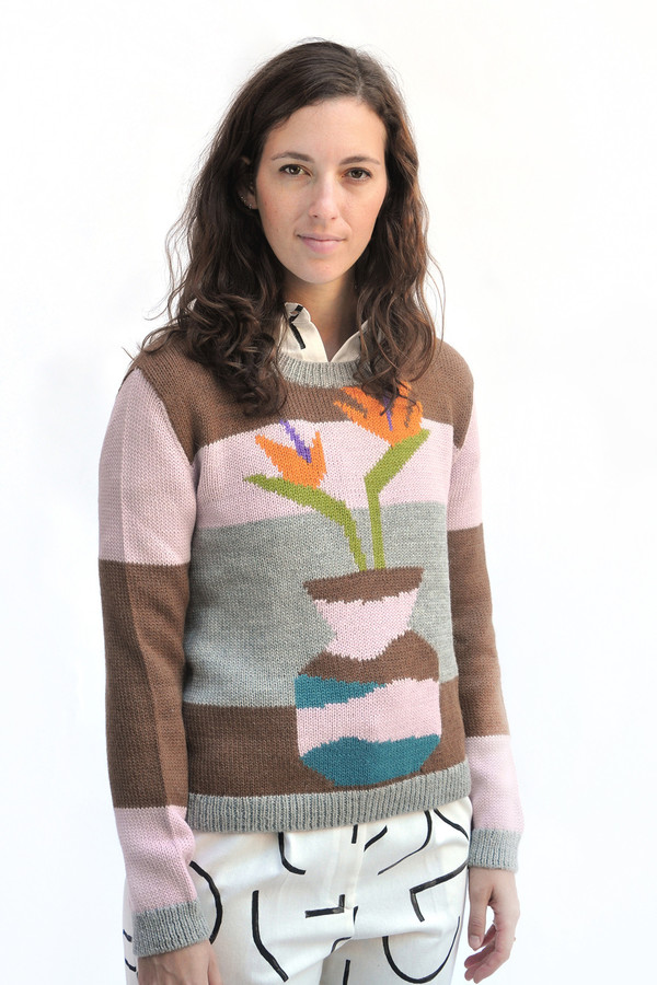 Neutral Combo Ceramics Sweater