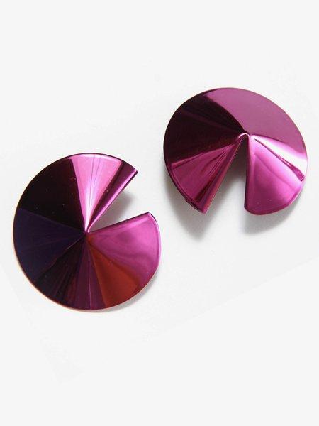 Gaviria Fortune Cookie Earrings - Purple