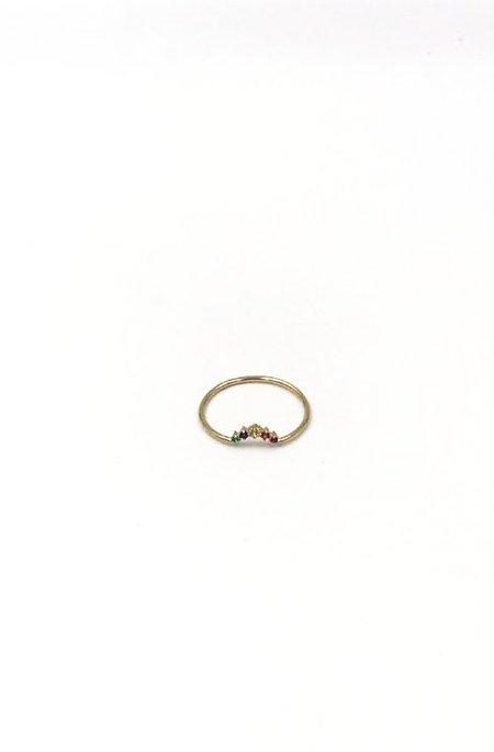 GJenmi 14k Rainbow Ballerina Ring - Gold