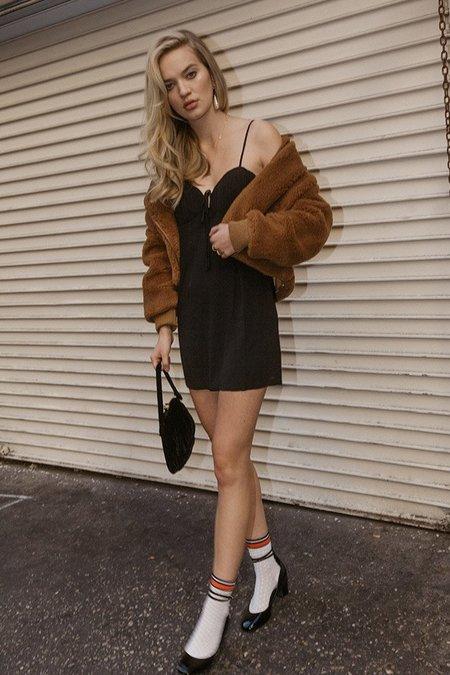 Cotton Candy LA Mini Dress - Black