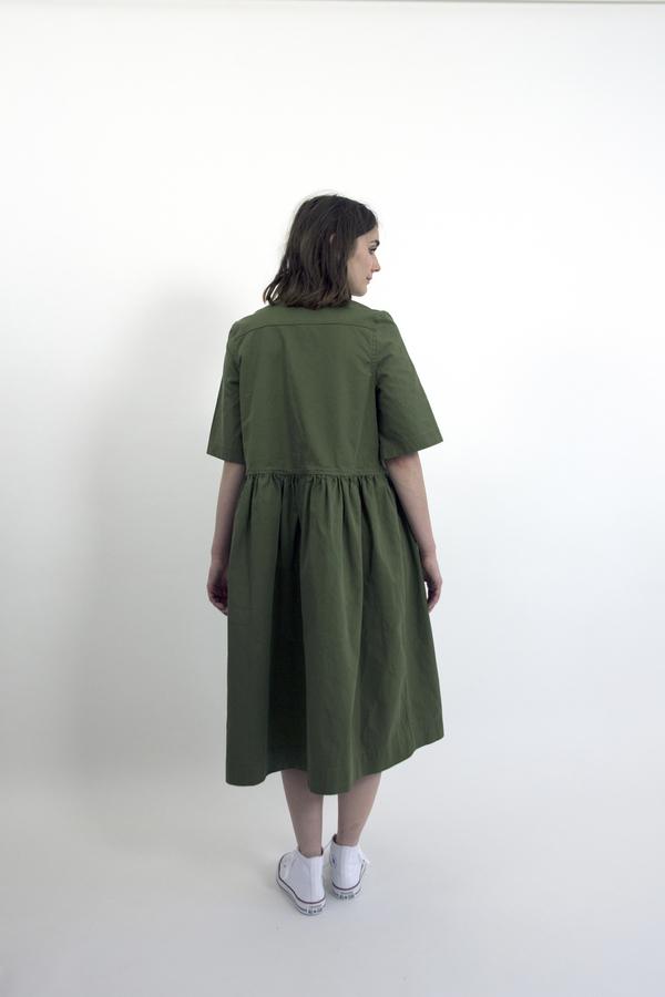 Feldt - Cotton Drill Zip Dress