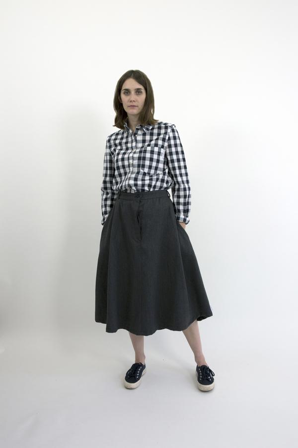 Feldt - Charcoal Midi Skirt