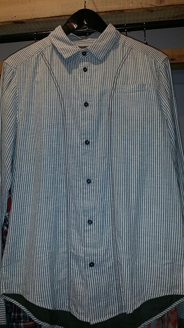 Men's Wolf & Man - Baseball Stripe Shirt