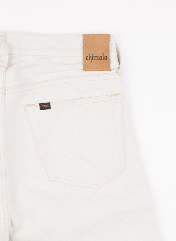 Men's Chimala 13oz Narrow Cut Selvedge Denim Ivory