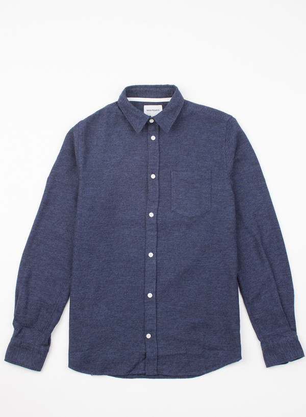 Men's Norse Projects Anton Brushed Dark Navy