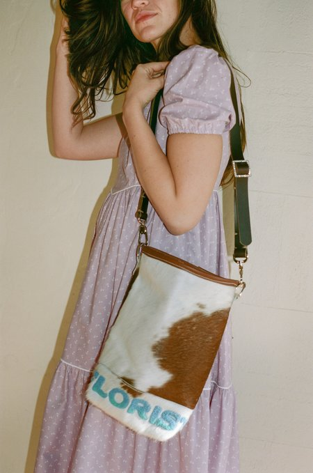Florist Blue/Light Blue Embroidery Bag
