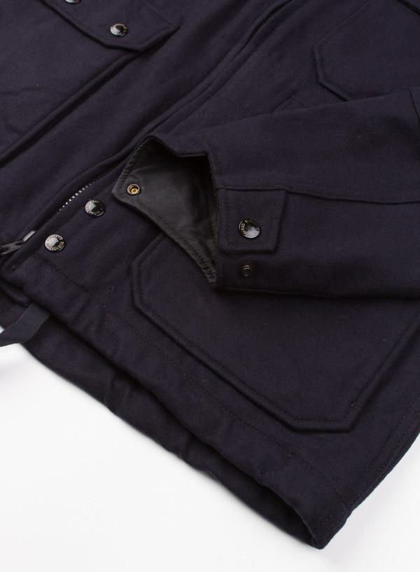 Men's Engineered Garments Cruiser Parka Dk Navy 20oz Wool Melton