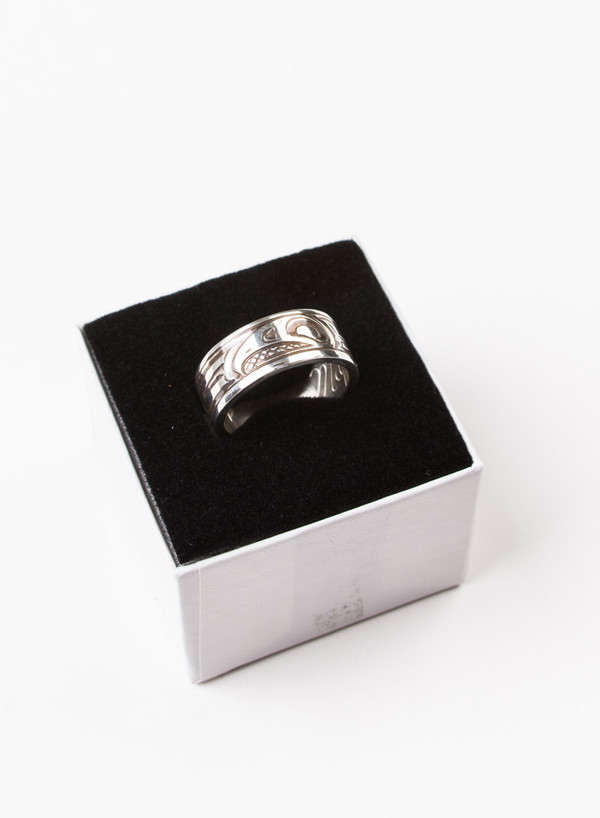 Men's MAPLE Eagle Band Ring Silver 925