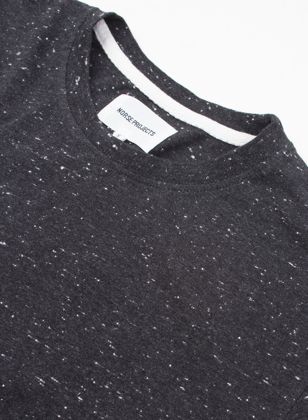 Men's Norse Projects Niels Boucle Charcoal