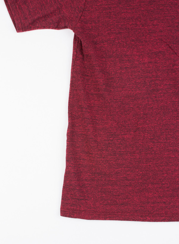 Men's National Athletic Goods Pocket Tee Mock Twist Maroon