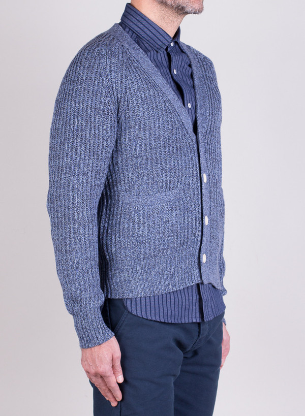 Men's Shipley & Halmos Rogers Cardi Blue Frond