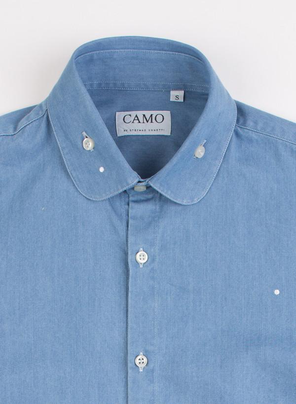 Men's Camo Sheremetyevo Round Collar Shirt Chambray