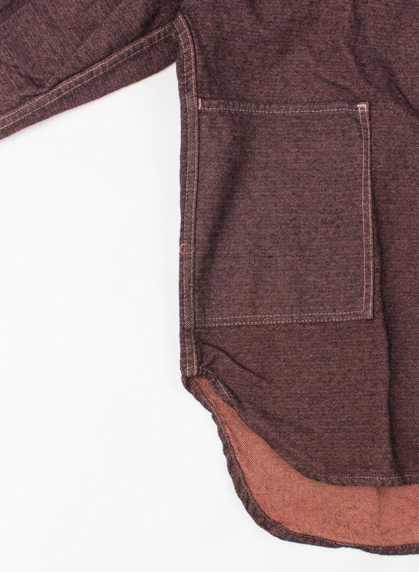 Men's Tender Tail Shirt Ochre Herringbone
