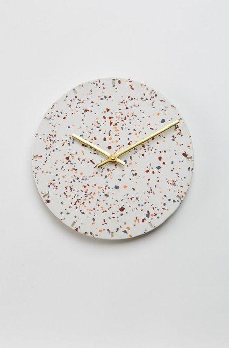 Capra Designs Terrazzo Clock - White