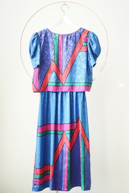 Vintage Backtalk PDX Colorful Silky Dress