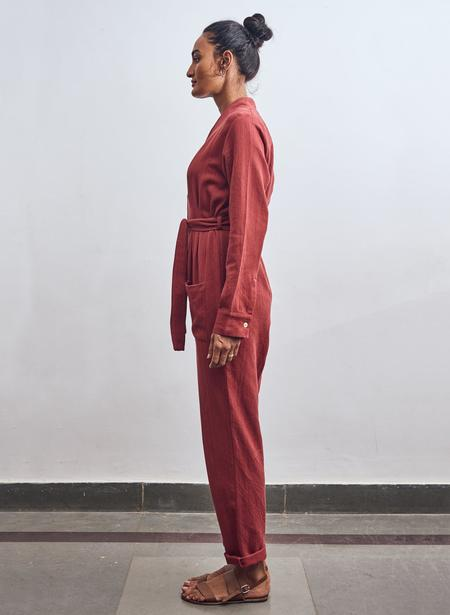 Seek Collective Andaz Twill Romper - Vin