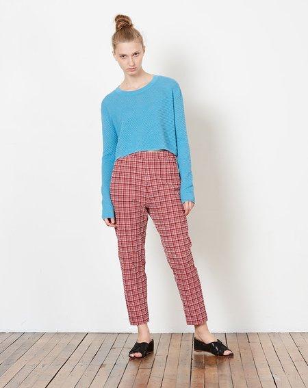 Rachel Comey Flat Westside Pant - Crimson Check