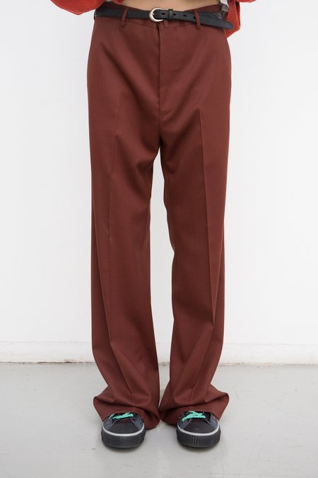 Lanvin 30CM Wide Trouser - Brick Red
