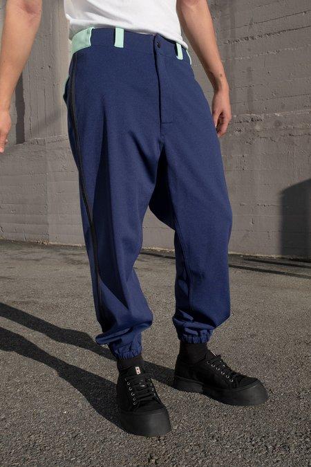 Marni Contrast Techno Jersey Baseball Pants - BLUE