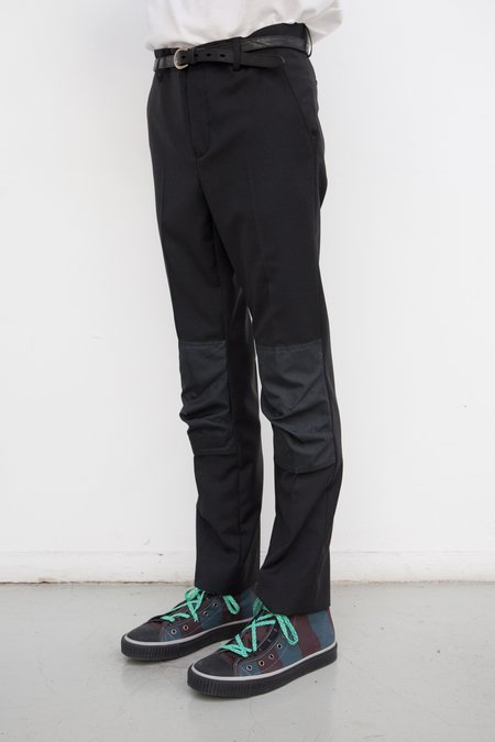 Lanvin Reinforced Knee Patch Slim Trouser
