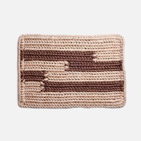 Someware Knotted Doormat - Walnut Stripe