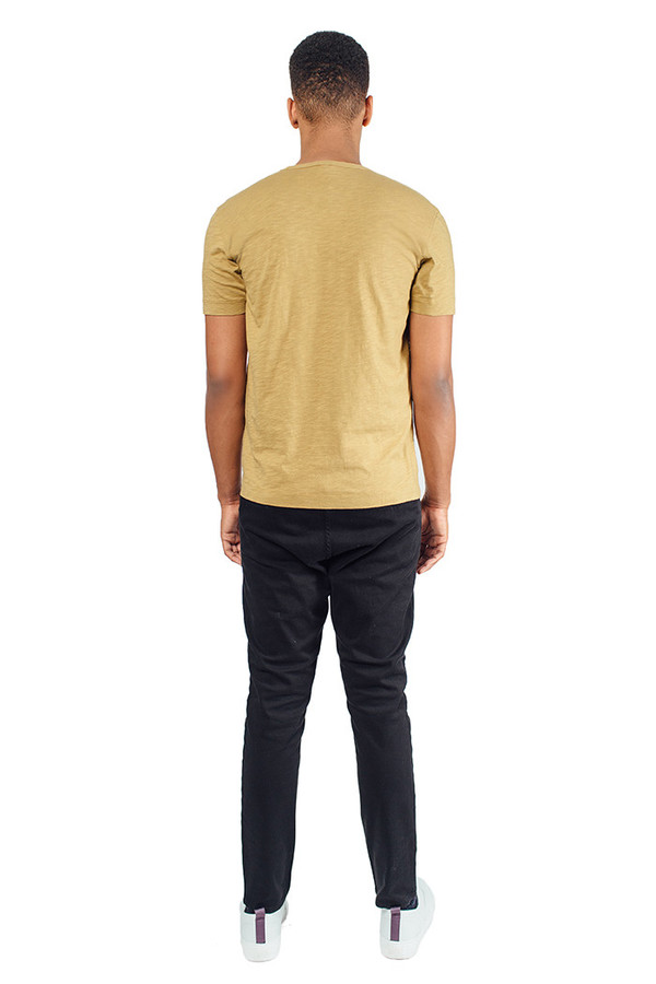 Men's YMC Pocket Tee Shirt Camel