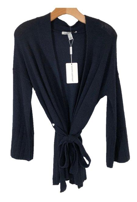 Autumn Cashmere Kimono Wrap - Navy