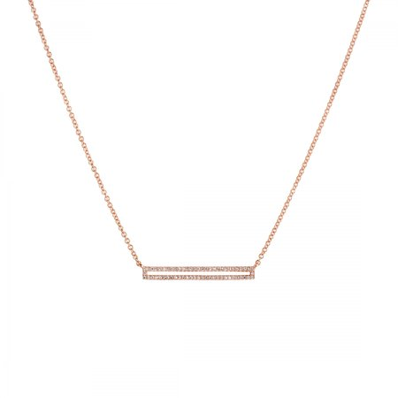 Bridget King Open Bar Necklace - 14k Rose Gold