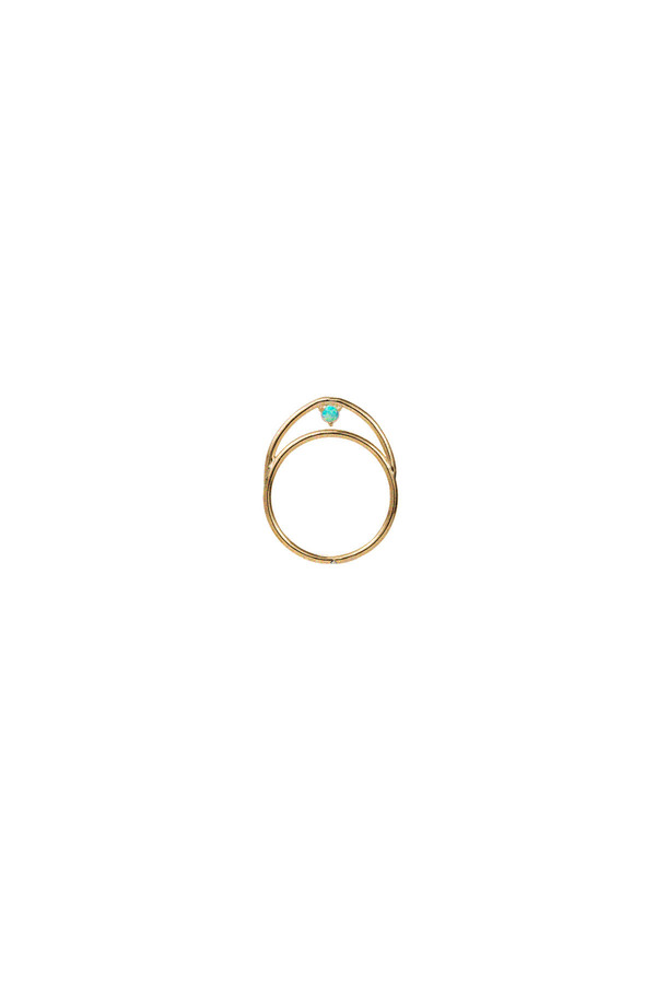 WWAKE Suspended Arc Opal Ring 14KYG