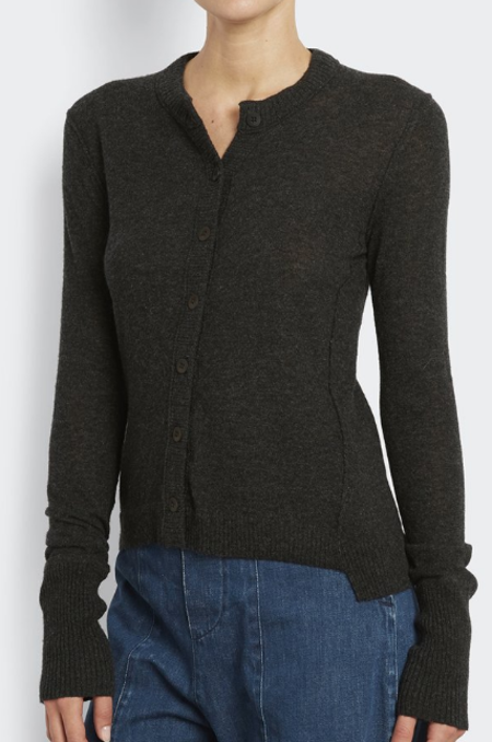 Inhabit 100% Cashmere Everyday Cardi - Charcoal