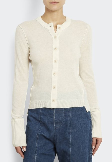 Inhabit 100% Cashmere Everyday Cardi - Ivory