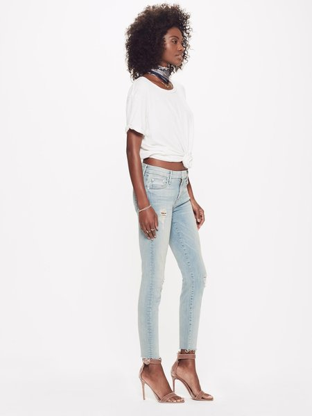 Mother Denim The Looker Ankle Fray Jean - Written in the Sand