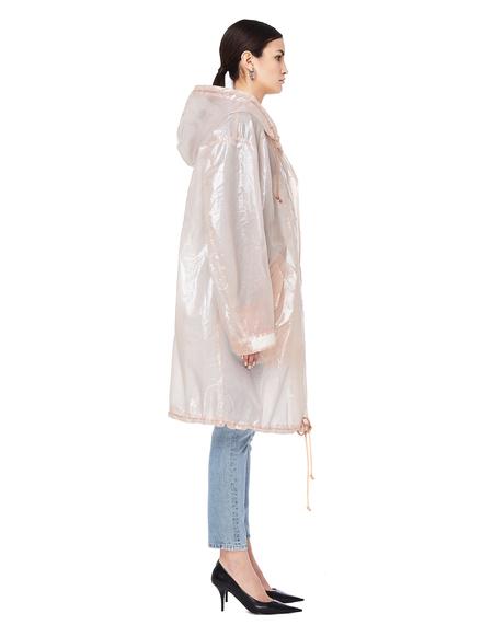 Unisex Doublet Souvenir Embroidered Transparent Raincoat - Beige