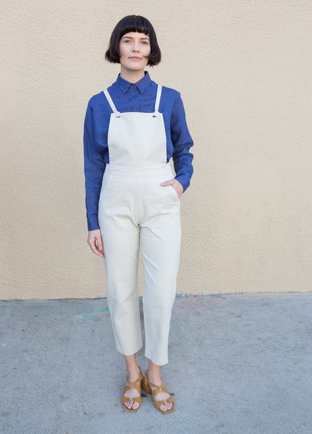 Loup Knot Overalls - White