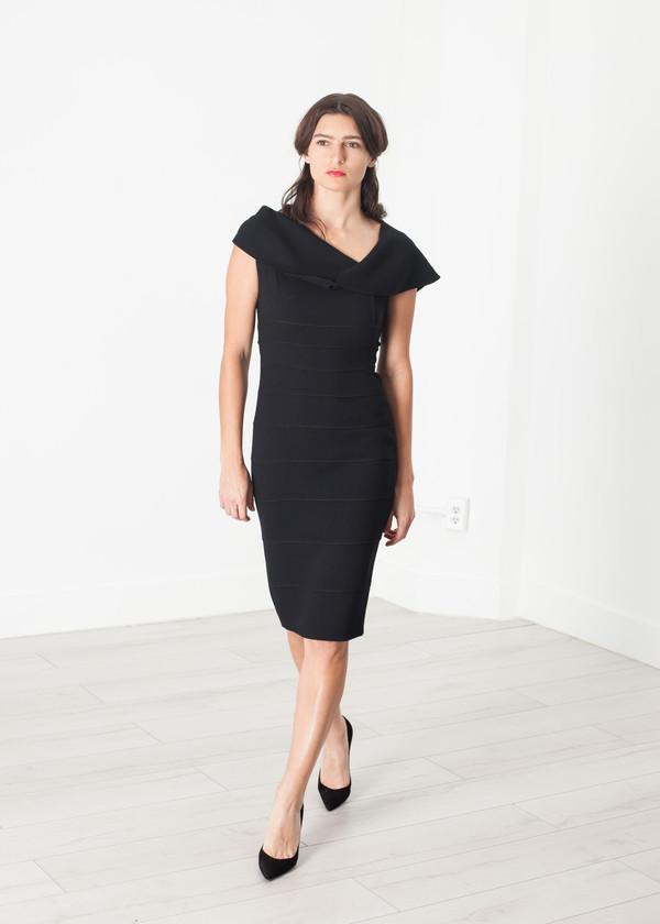 Amelia Toro Asymmetric Dress in Black