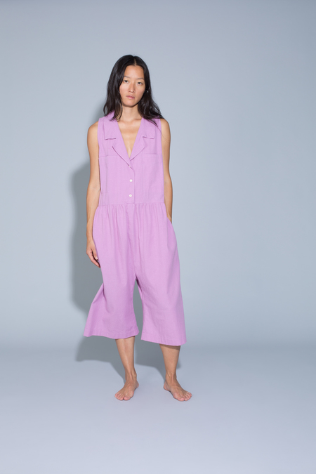0ba2aaeeeb0b ... Ilana Kohn Violet Jumpsuit in Grape Cotton