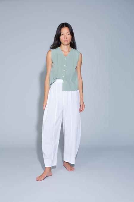 Ilana Kohn Abe Pants in Chalk Cotton