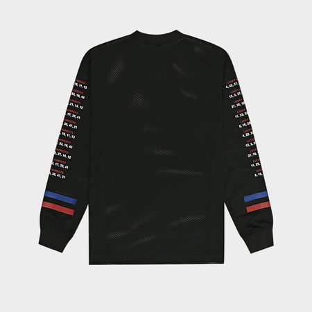 Alexander Wang Athletic Mesh Long Sleeve Shirt - Acid Black