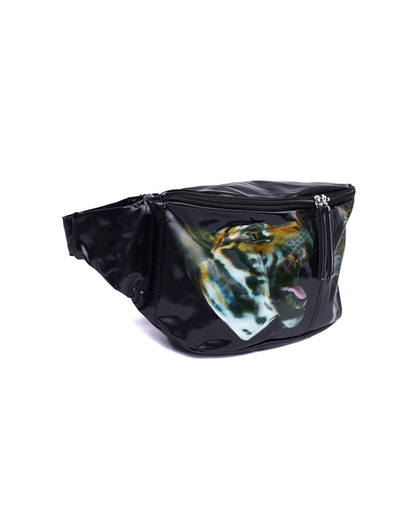 Doublet 3D Tiger Waist Bag - Black