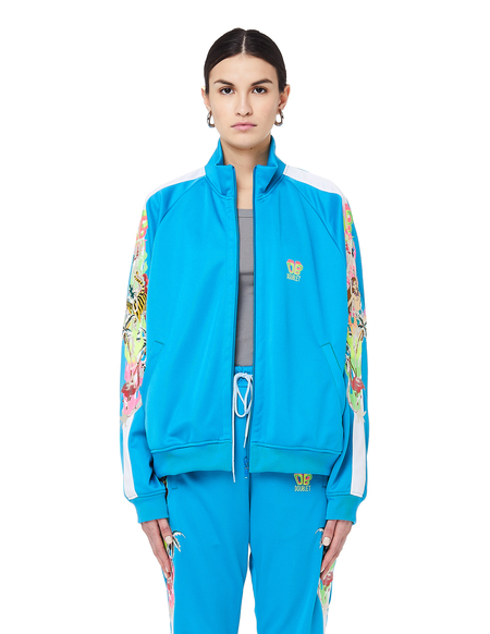 Unisex Doublet Chaos Embroidery Track Jacket - Blue